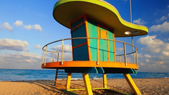 Beach Station in Miami Florida widescreen wallpapers