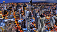 Chicago Illinois HDR 4K HD Desktop Wallpapers for 4K Ultra HD