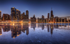 Granite Reflections Chicago Illinois USA widescreen wallpapers