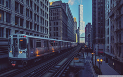 Chicago Illinois Trains 4K HD Desktop Wallpapers for 4K Ultra HD