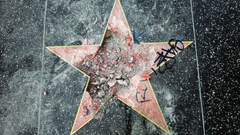 Trump s Hollywood Walk of Fame star destroyed again