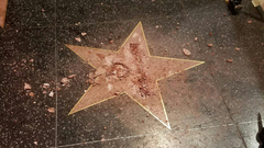 Donald Trump s Star Vandalized Again on Hollywood Walk of Fame