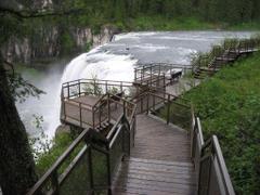 Waterfalls Upper Mesa Falls Idaho Usa Waterfalls Wallpapers For
