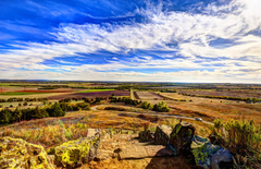 Wallpapers USA Kansas Nature Sky Fields Stones Clouds