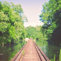 Rail Bridge Mississippi River Flooding Louisiana iPad Wallpapers