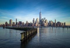 Lower Manhattan from Jersey City boardwalk 6000x4081 OC wallpapers