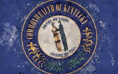 wallpapers Seal of Kentucky 4k emblem geometric art