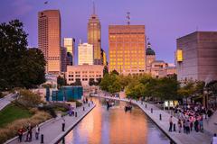 Architecture art bridges buildings cities City Indiana Indianapolis