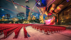 Millennium Park Jay Pritzker Pavilion Chicago Illinois widescreen