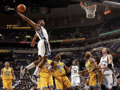 NBA Grizzlies NO 22 Rudy Gay Dunk picture