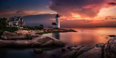 nature Landscape Sunset Lighthouse Massachusetts Sky Coast