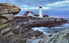 Lighthouses Portland Head Lighthouse Photography Lake Waterscape
