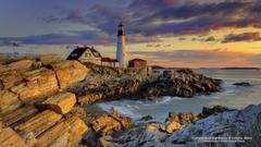 Lighthouses Lighthouse Portland Maine Lighthouses Oceans Rocks