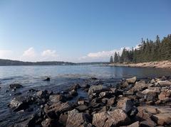 Oceans Port Maine Sky Clyde Clouds Rocks Ocean Trees Pacific