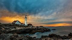 Portland Head Light Lighthouse 4K HD Desktop Wallpapers for 4K