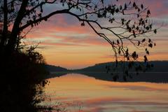 crane lake mark twain national forest missouri morning HD wallpapers