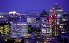 City Lights of Montreal Quebec Canada city wallpapers