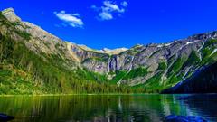 Lakes MOUNTAIN LAKE Usa Glacier National Park Montana State