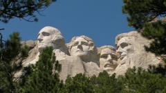 Mt Rushmore from Below Hi Res Video
