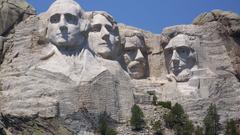 Mountain Mount Rushmore Famous Faces Presidents Mountian Mountain