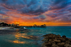 Nassau Bahamas Sea Nature Tropics Sunrises and sunsets Clouds