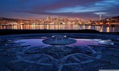 Seattle Skyline Washington HD desktop wallpapers Fullscreen