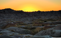 Badlands National Park Sunset South Dakota 4K HD Desktop