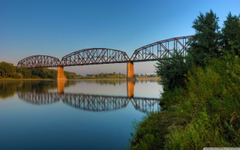 Northern Pacific Railroad Bridge at Bismarck North Dakota 4K HD