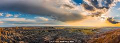 Sunset in Badlands National Park South Dakota 4K wallpapers