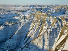 Badlands National Park in Winter South Dakota
