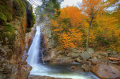 USA Glen Ellis New Hampshire Nature Autumn Waterfalls