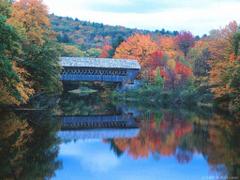 New England Covered Bridges and fall foliage