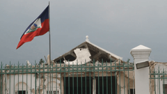 Ruined Capital Building And Flag Port