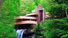 nature Landscape Waterfall Long Exposure Frank Lloyd Wright