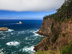 popular coast sea oceans sea cliffs wallpaper nature Oregon