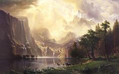 Wallpapers Albert Bierstadt Among The Sierra Nevada Mountains