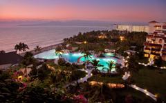 Late Night Dip Mexico Puerto Vallarta Oceanside Pool widescreen