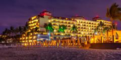 Image Mexico Puerto Vallarta Beach Sand Palms Evening Cities