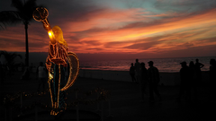 Sunsets Christmas Malecon Banderas Bay Sunset Puerto Vallarta