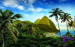 St Lucia in the Caribbean Full HD Wallpapers and Backgrounds