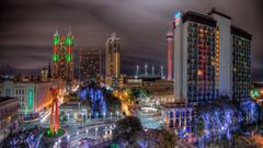 Other Colorful Lights San Antonio Night Texas Hotel Streets
