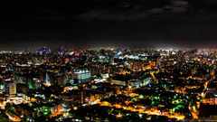 Night in Santo Domingo Wide image of cities and countries for the