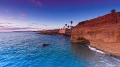 Sunset Cliffs Pacific Ocean San Diego 4K Ultra HD Desktop Wallpapers