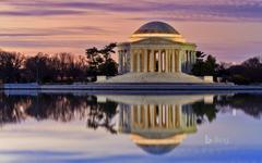 Thomas Jefferson Memorial reflected in the Tidal Basin Washington