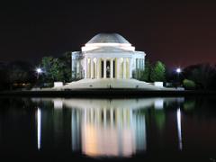 Darkness over the Jefferson Memorial