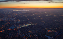 Silicon Valley San Francisco Aerial view Technology Sunset San