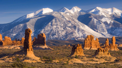 La Sal Mountains Arches National Park Utah widescreen wallpapers