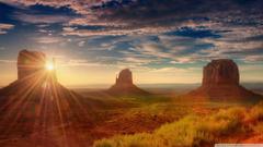 Sunshine Utah Monument Valley 4K HD Desktop Wallpapers for Dual