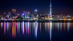 Auckland At Night Wallpapers