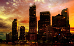 Brisbane by night Wallpapers Australia World